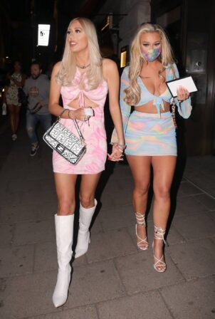 Demi and Frankie Sims - Seen at Novikov and Tape Nightclub in London