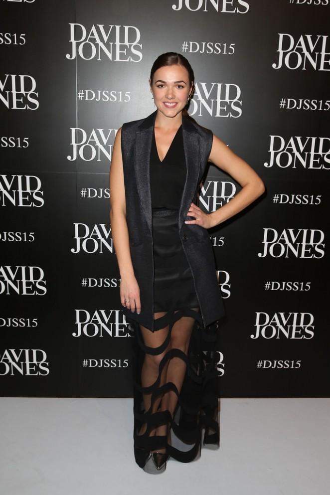 Demi Harman - David Jones S/S 2015 Fashion Launch in Sydney