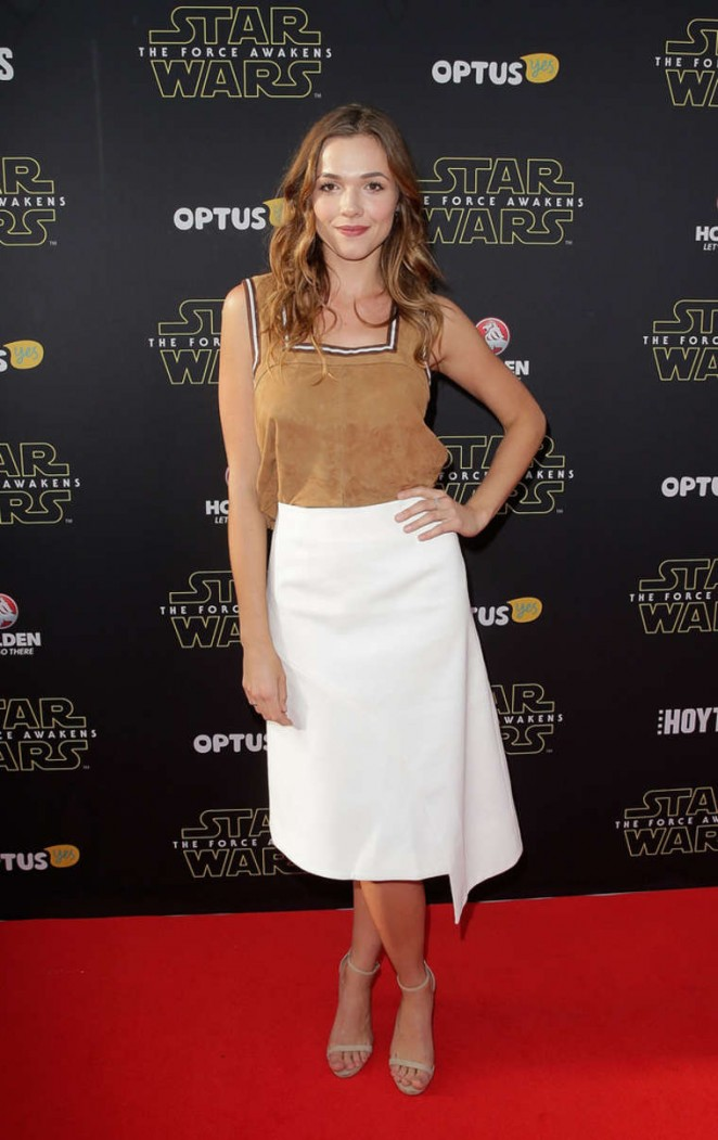 Demi Harman - 'Star Wars: The Force Awakens' Premiere in Sydney