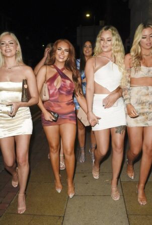Demi Jones - Birthday Nightout at Boujee with Jess and Eve Gale and Jordanne Duggan in Manchester