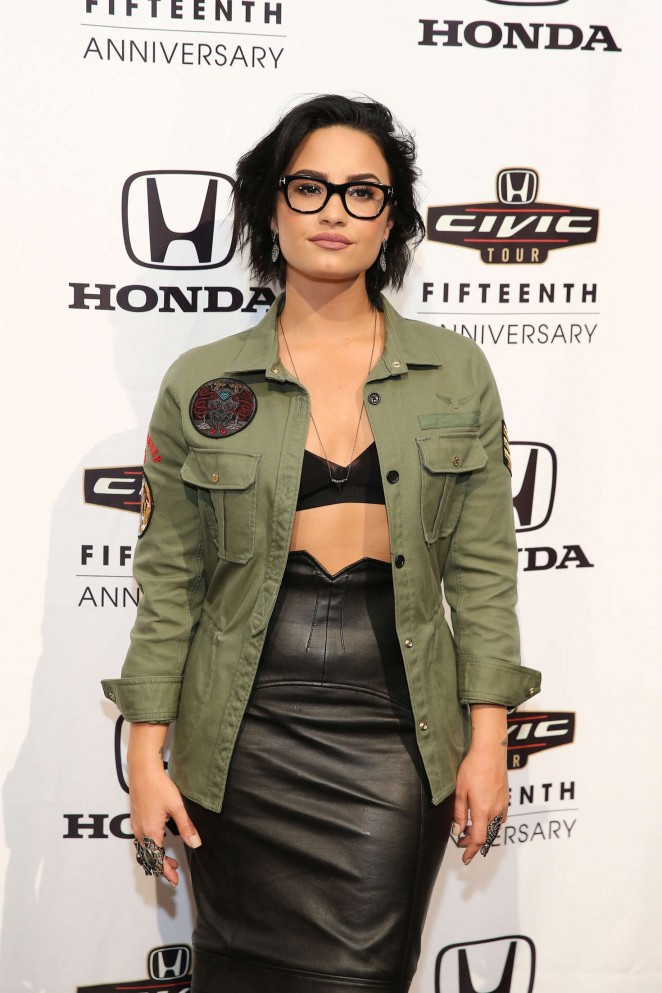 Demi Lovato – 2016 Honda Civic Tour Artists Announcement in New York