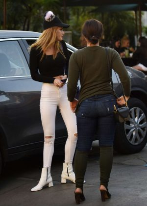 Demi Lovato and Bella Thorne Leaves Urth Cafe in Los Angeles