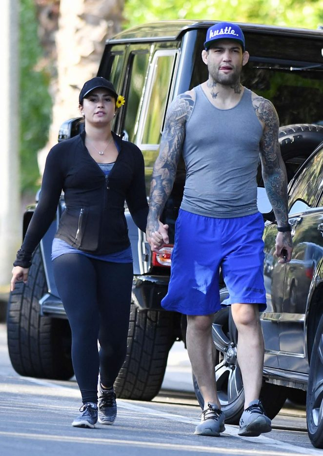 Demi Lovato and Guilherme Vasconcelos at Runyon Canyon in Hollywood Hills