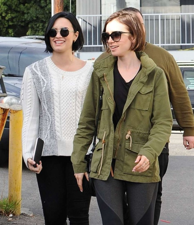 Demi Lovato and Lily Collins Out for Lunch in West Hollywood