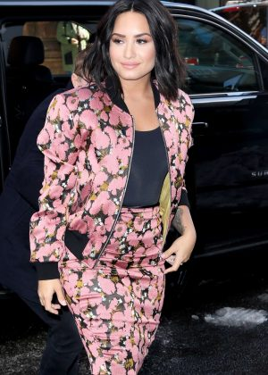 Demi Lovato Arrives at AOLBuild in NY