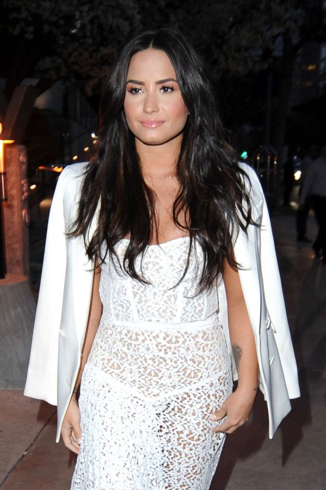 Demi Lovato - Arriving at the Island Record Pre Grammy Party in Los Angeles