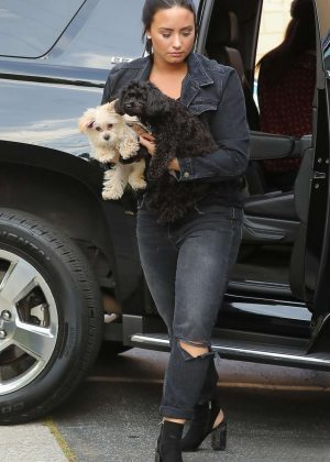 Demi Lovato - Arriving at the recording studio in West Hollywood