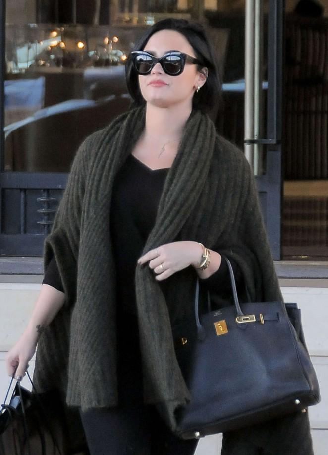 Demi Lovato at Barneys in Los Angeles