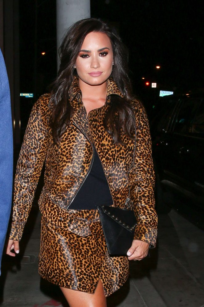 Demi Lovato at Catch LA in West Hollywood