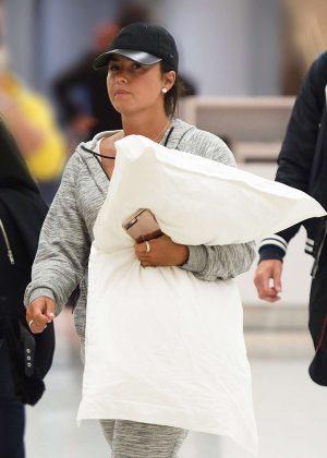 Demi Lovato at JFK airport in New York City