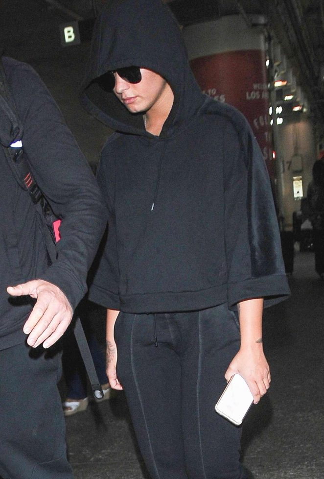 Demi Lovato at LAX Airport in Los Angeles