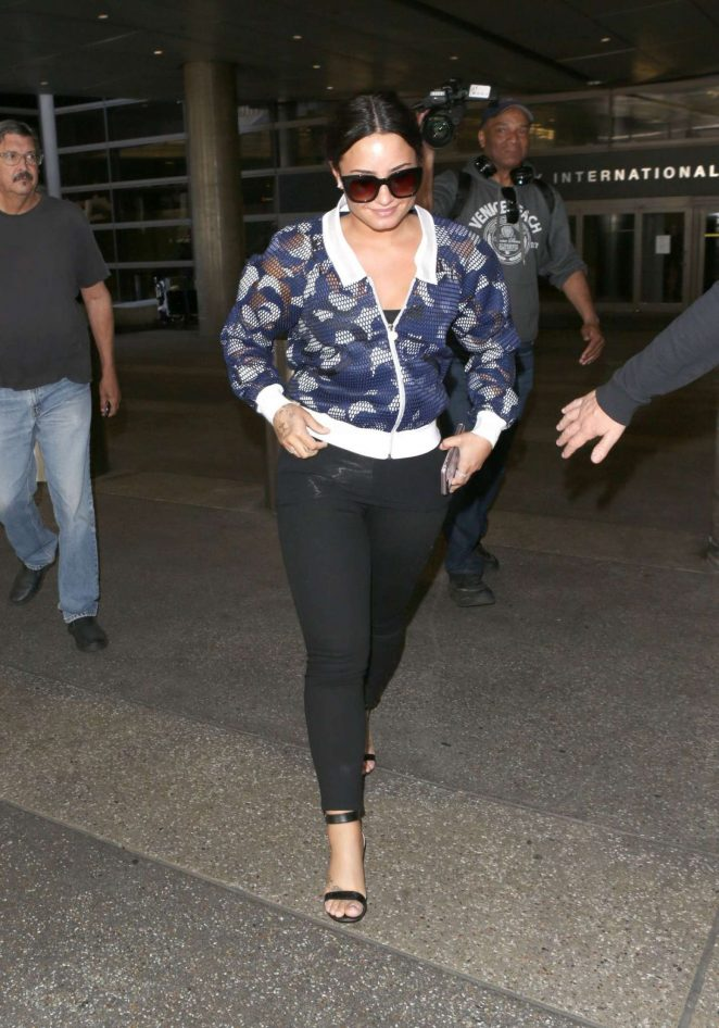 Demi Lovato at Los Angeles International Airport in LA