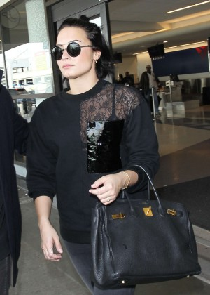 Demi Lovato at Los Angeles International Airport