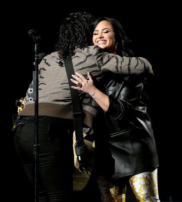 Demi Lovato - Bud Light Super Bowl Music Fest in Miami