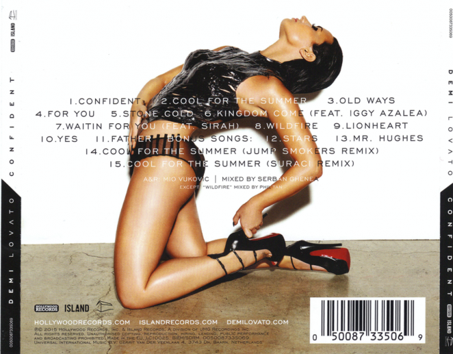 Demi Lovato - Confident Album Back Cover