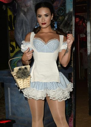 Demi Lovato - Dressed as a sexy Dorothy Gale from The Wizard of Oz in Beverly Hills