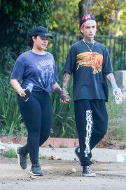 Demi Lovato - goes on a hike in Studio City