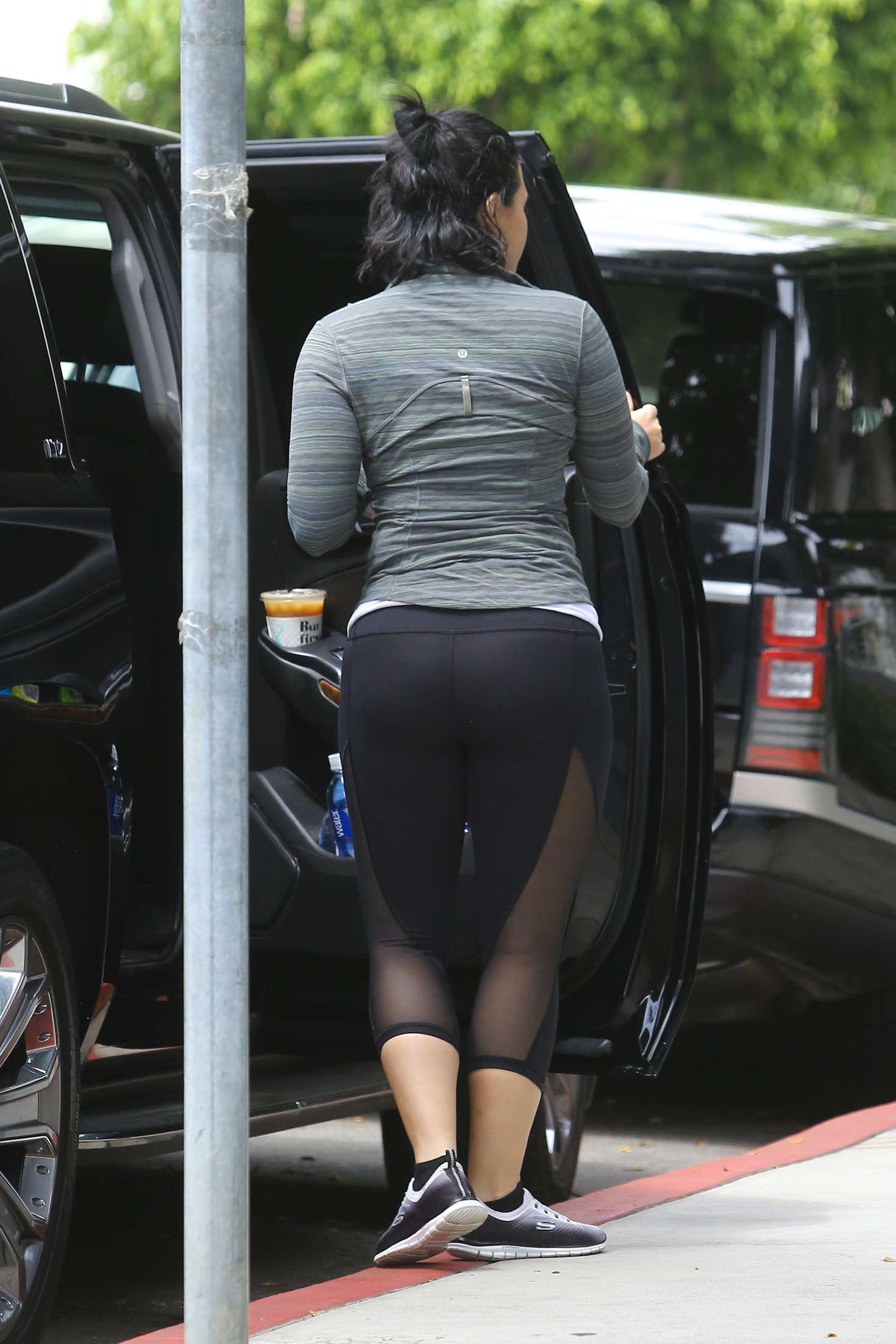 Demi Lovato Booty in Tights -01  GotCeleb