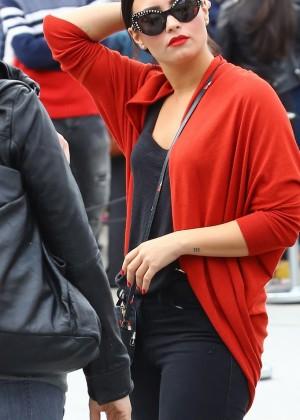Demi Lovato in Black Jeans Out in Paris