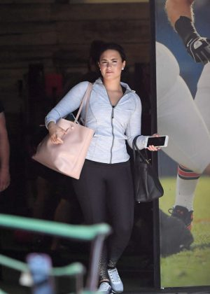 Demi Lovato in Spandex Leaving a gym in LA