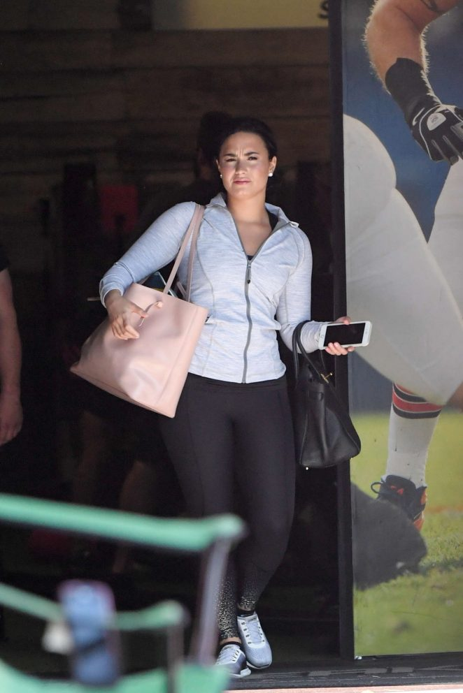 Demi Lovato in Spandex Leaving a gym in LA