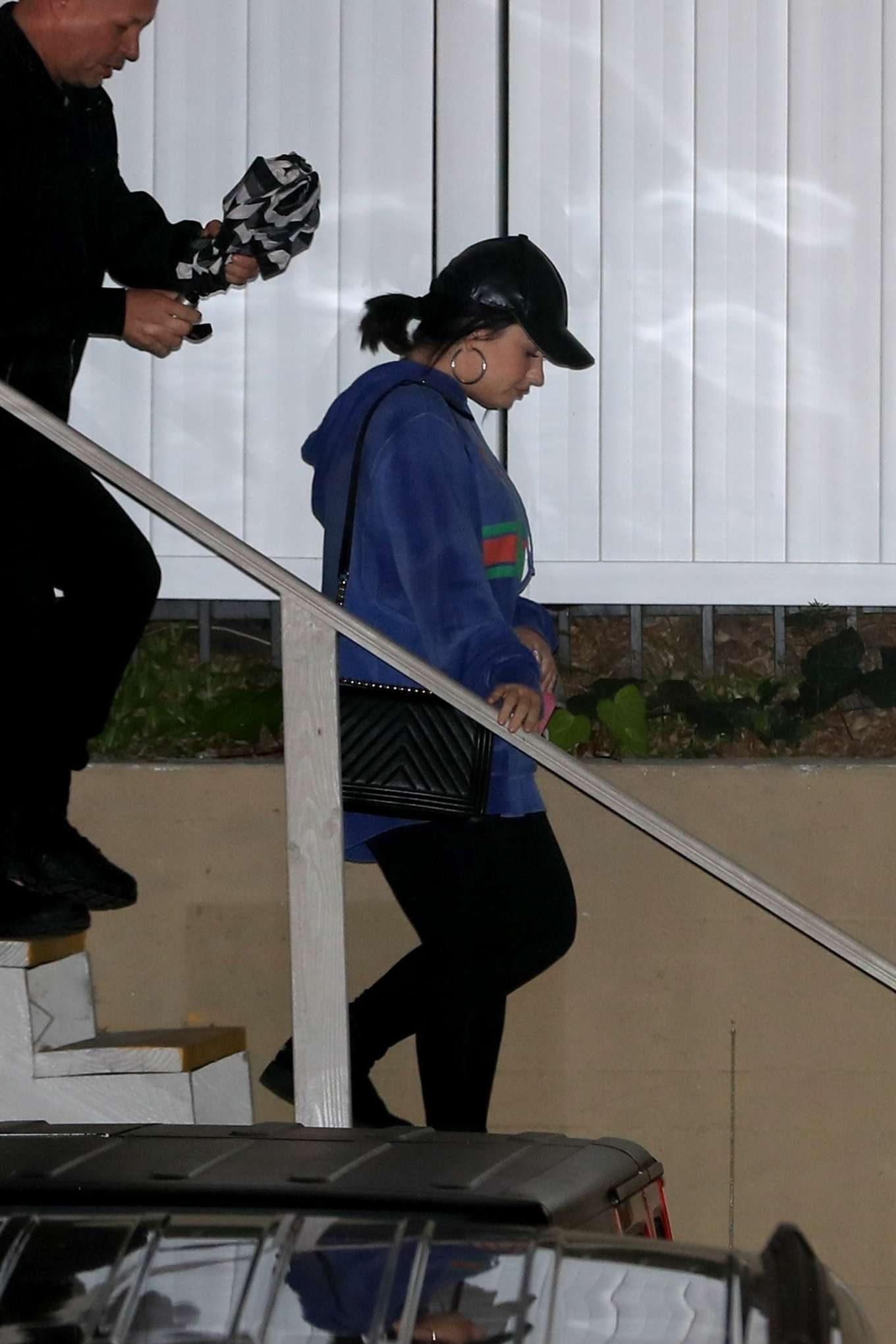 Demi Lovato - Leaves a Wednesday night church service in Beverly Hills