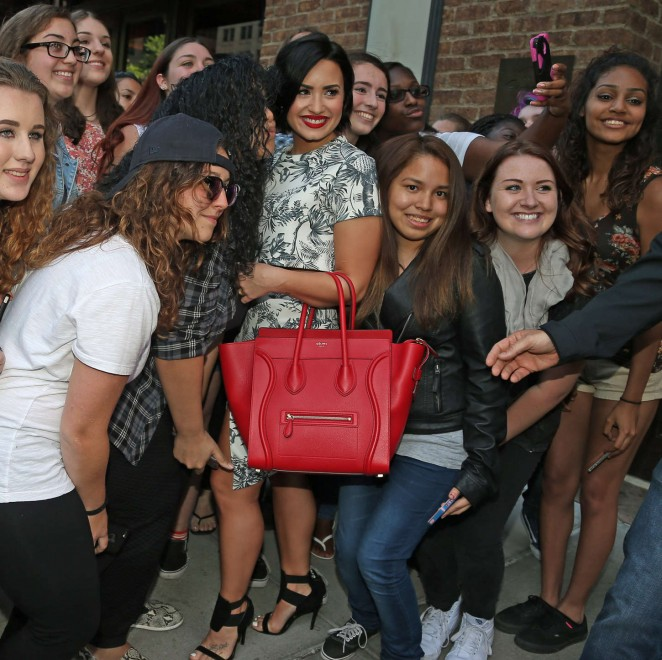 Demi Lovato: Leaving her NY Hotel -05
