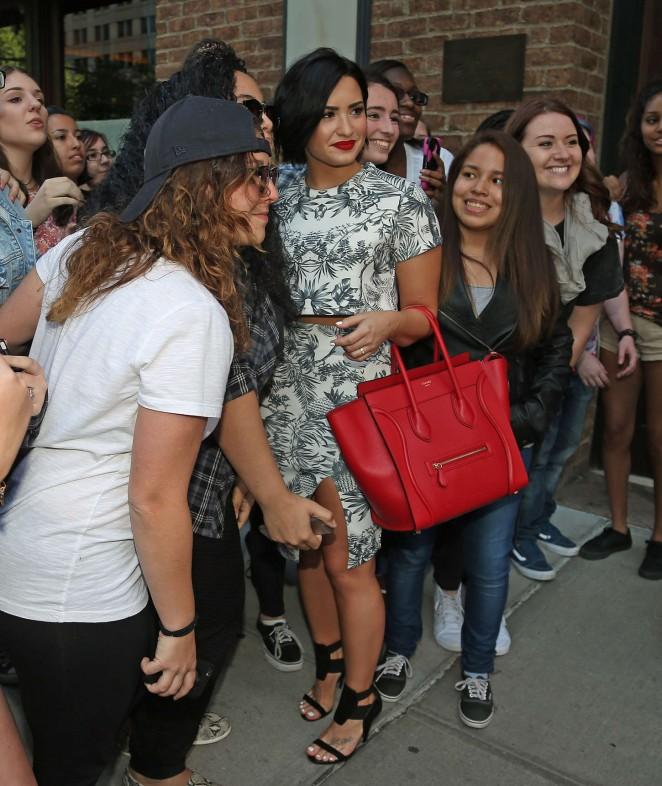 Demi Lovato: Leaving her NY Hotel -15