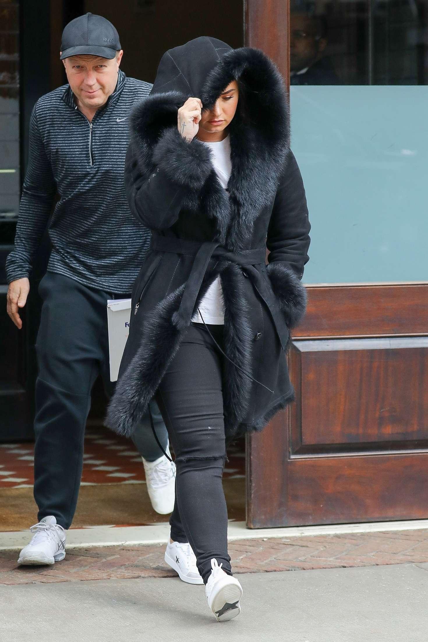 Demi Lovato - Leaving her hotel in NYC