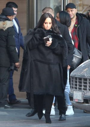 Demi Lovato - Leaving her hotel in Toronto