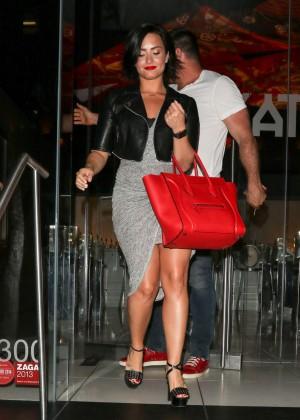 Demi Lovato - Leaving Katuya restaurant in Hollywood