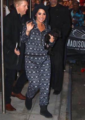 Demi Lovato - Leaving Madison Garden in New York