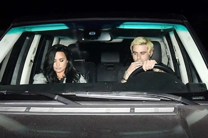 Demi Lovato: Leaving Matsuhisa Restaurant -01