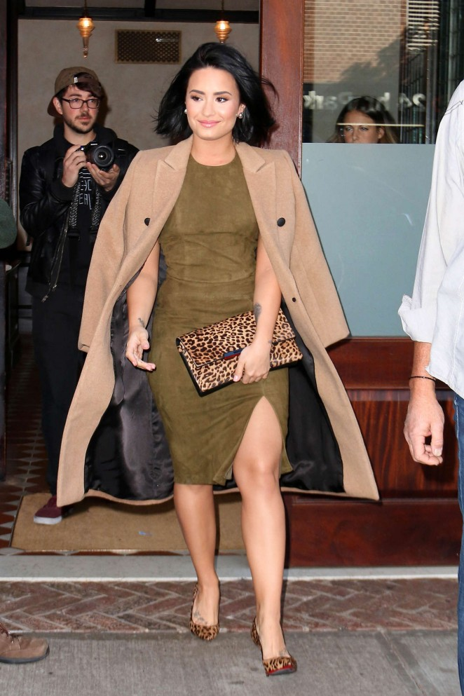 Demi Lovato - Leaving the Greenwhich Hotel in NYC