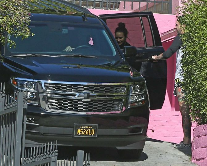 Demi Lovato: Leaving the gym in Los Angeles -01
