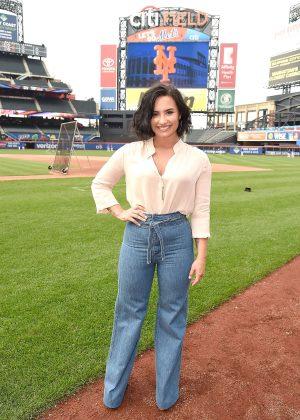 Demi Lovato - Mets Game at Citi Field in New York