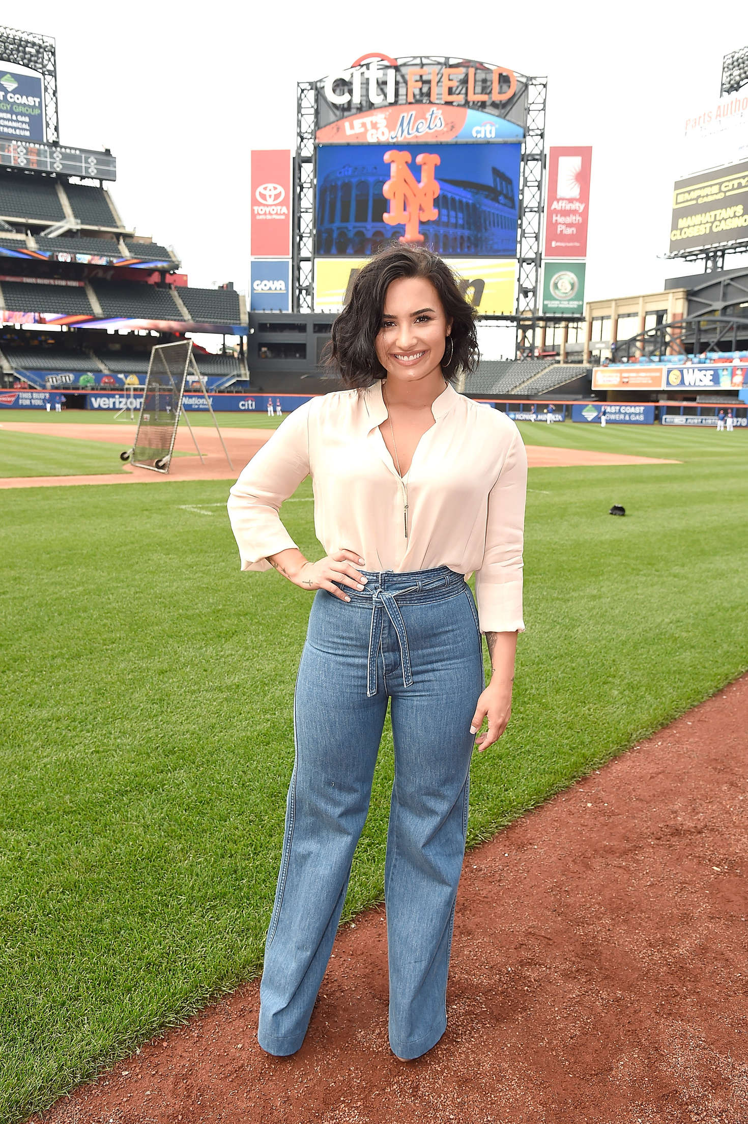 Demi Lovato – Mets Game at Citi Field in New York – GotCeleb