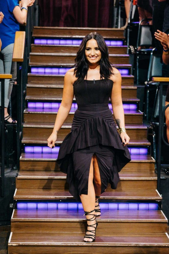 Demi Lovato on 'The Late Late Show with James Corden' in Los Angeles