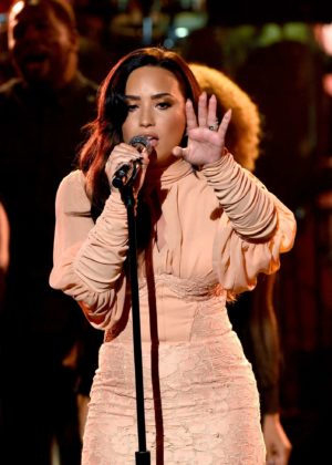 Demi Lovato - 'One Voice: Somos Live! A Concert For Disaster Relief' in LA