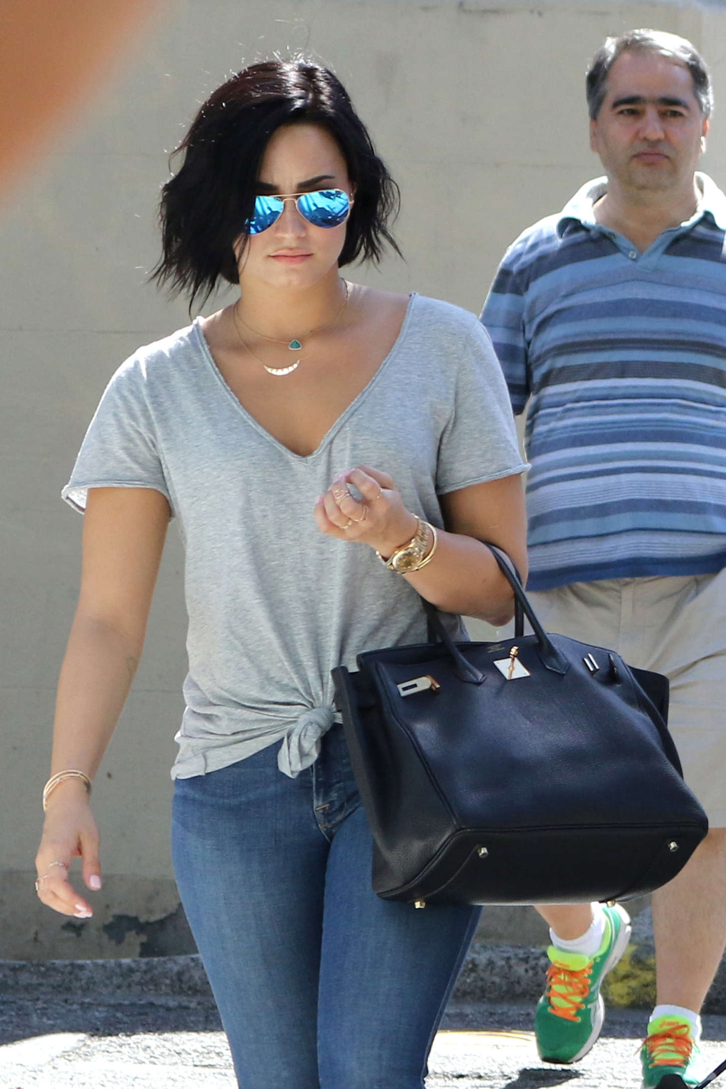 demi lovato in jeans out in vancouver
