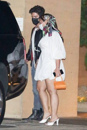 Demi Lovato - Out for a date night with her fiance at Nobu in Malibu