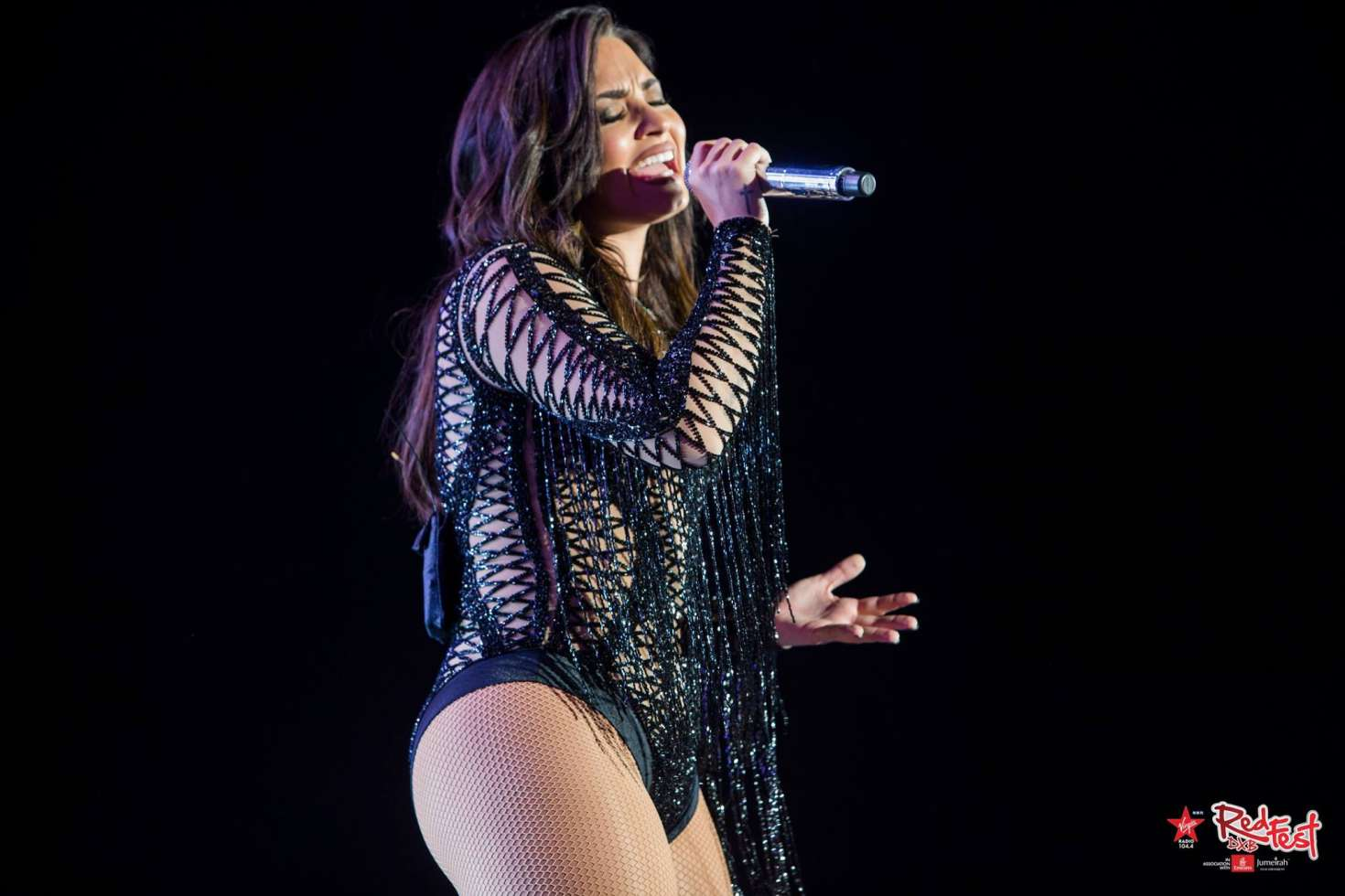 Demi Lovato – Performing at RedfestDXB in Dubai | Celebs ...