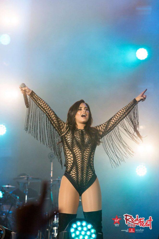 Demi Lovato - Performing at RedfestDXB in Dubai
