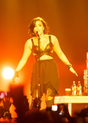 Demi Lovato - Performing at the Vector Arena in Auckland