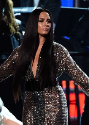 Demi Lovato - Performs at 59th GRAMMY Awards in Los Angeles
