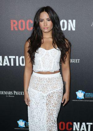 Demi Lovato - Roc Nation Pre-Grammy Brunch in Los Angeles