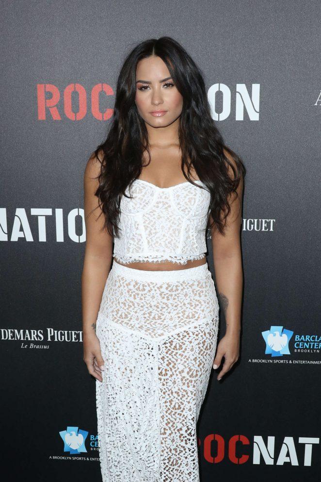 Demi Lovato – Roc Nation Pre-Grammy Brunch in Los Angeles