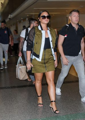 Demi Lovato - Seen At LAX Airport