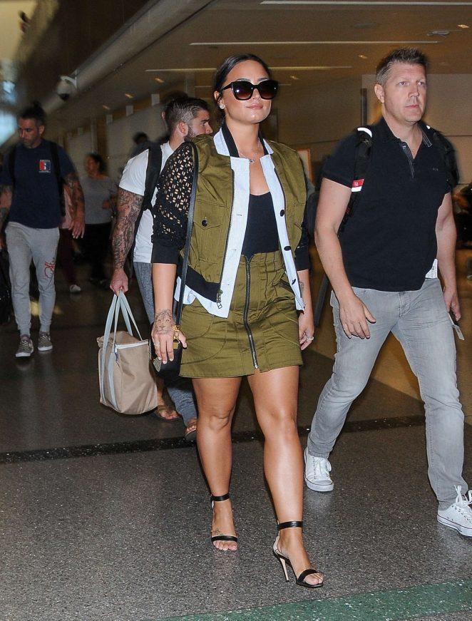 Demi Lovato - Seen At LAX Airport