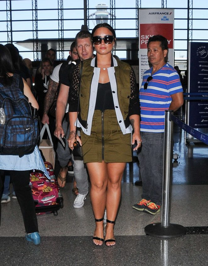 Demi Lovato: Seen At LAX Airport -02